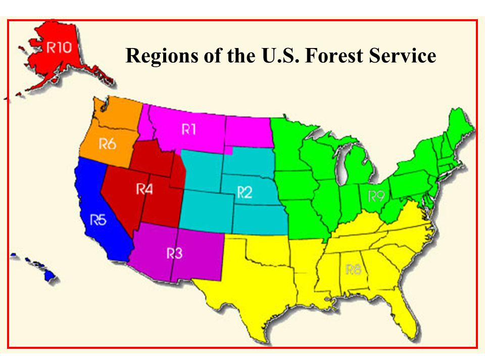 Regions of the U.S. Forest Service