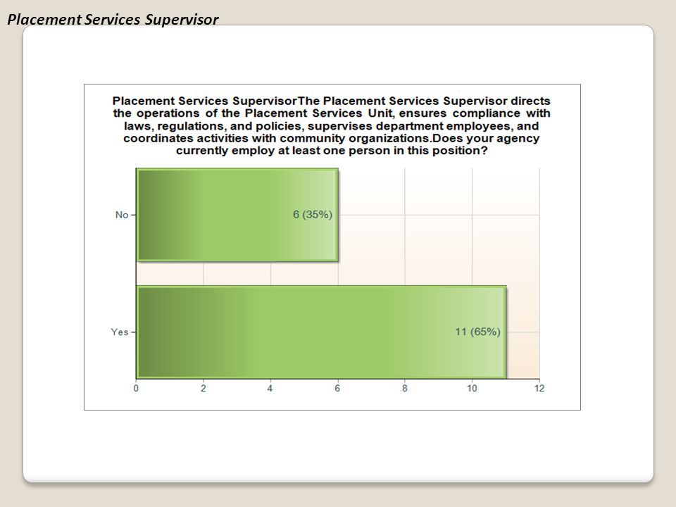 Placement Services Supervisor