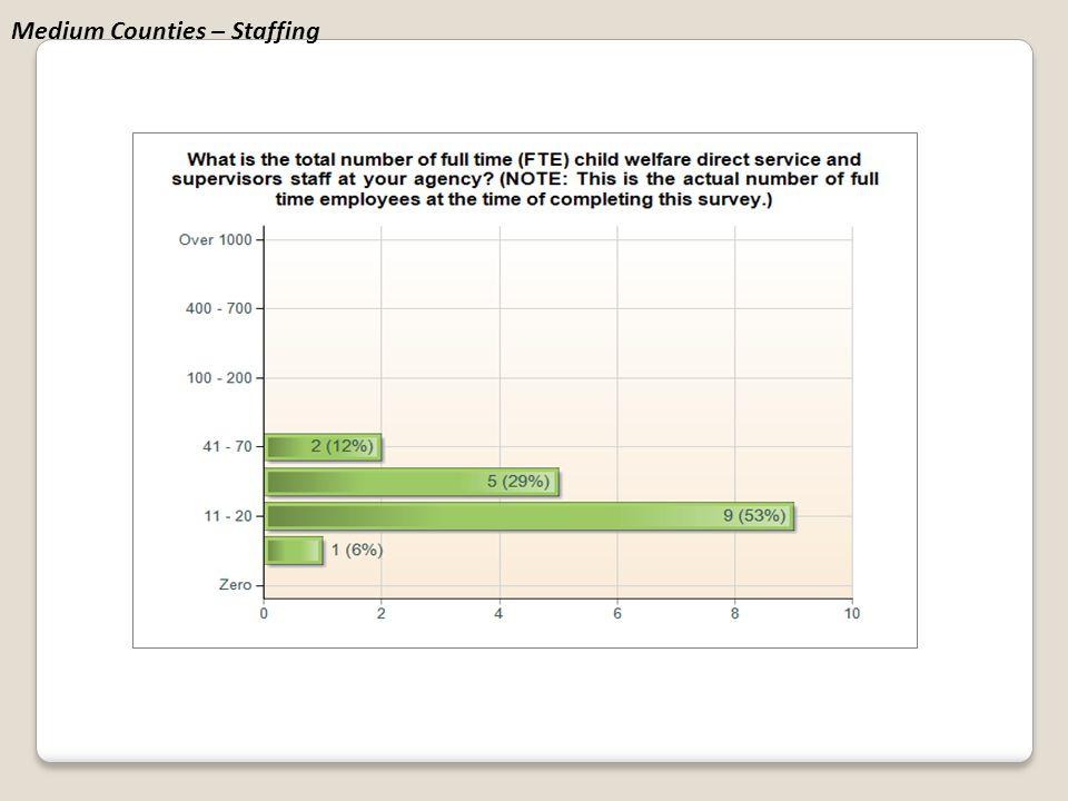 Medium Counties – Staffing