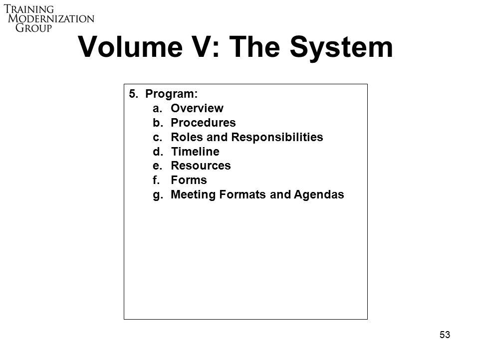 53 Volume V: The System 5.