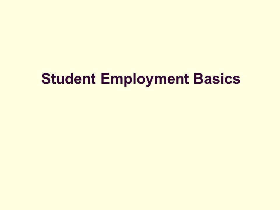 Student Employment Basics