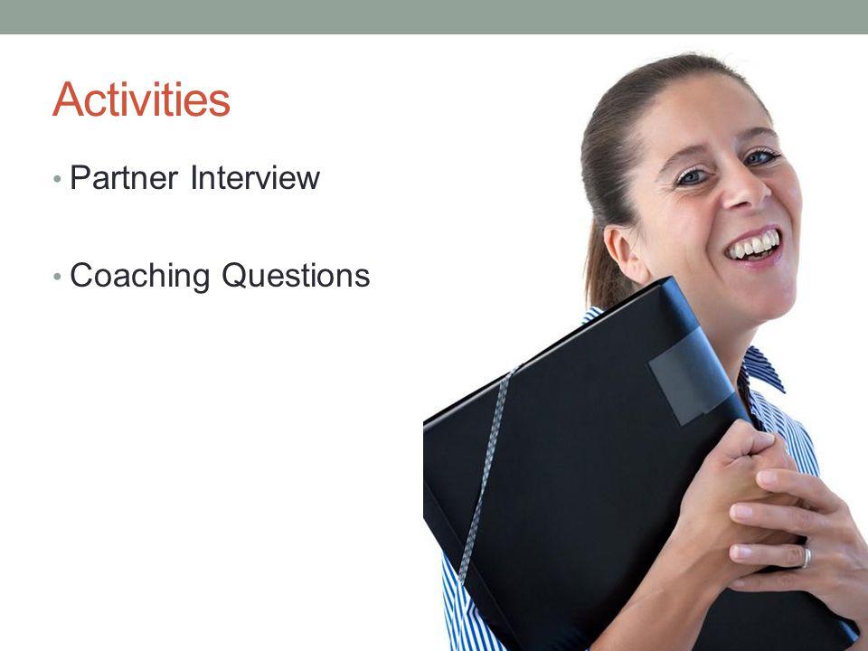 Activities Partner Interview Coaching Questions
