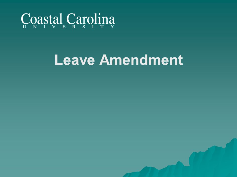 Leave Amendment