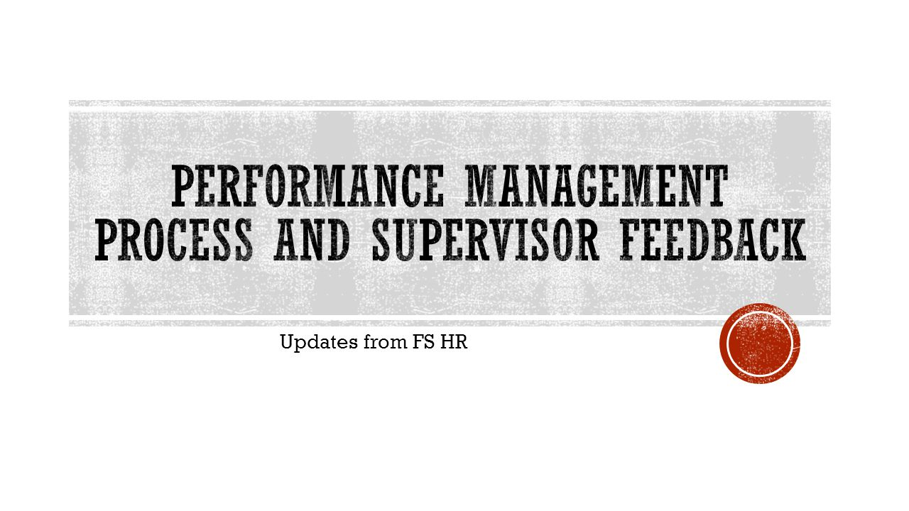 Updates from FS HR