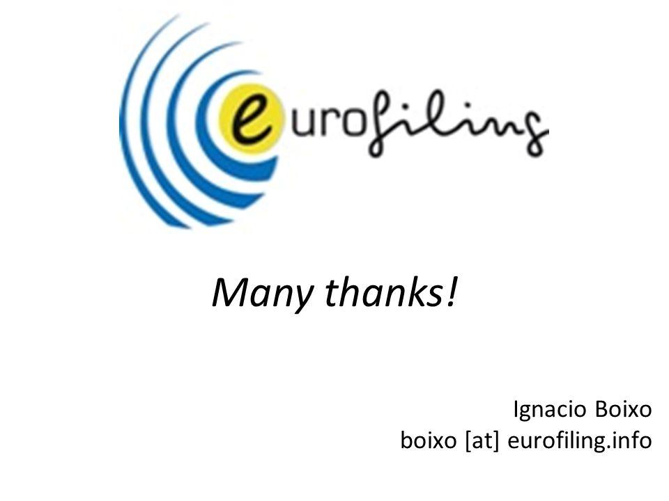 Ignacio Boixo boixo [at] eurofiling.info Many thanks!