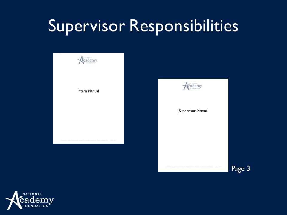 Supervisor Responsibilities Page 3