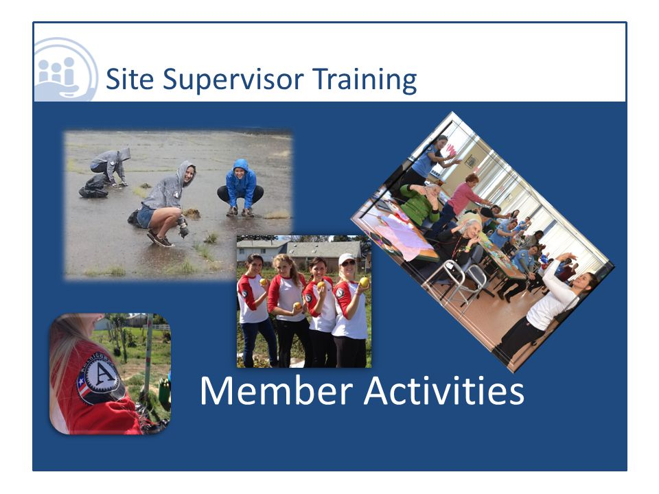 Site Supervisor Training Member Activities