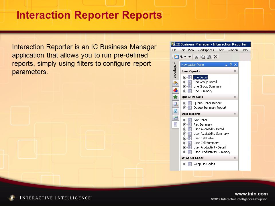 THIS CONCLUDES THE INTRODUCTION TO REPORTING TRAINING.