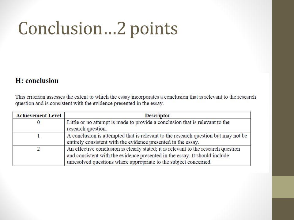 Conclusion…2 points