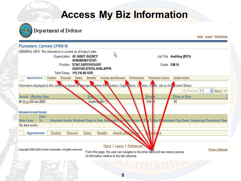 9 Access My Biz Information 9