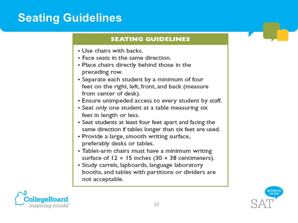 Seating Guidelines 39