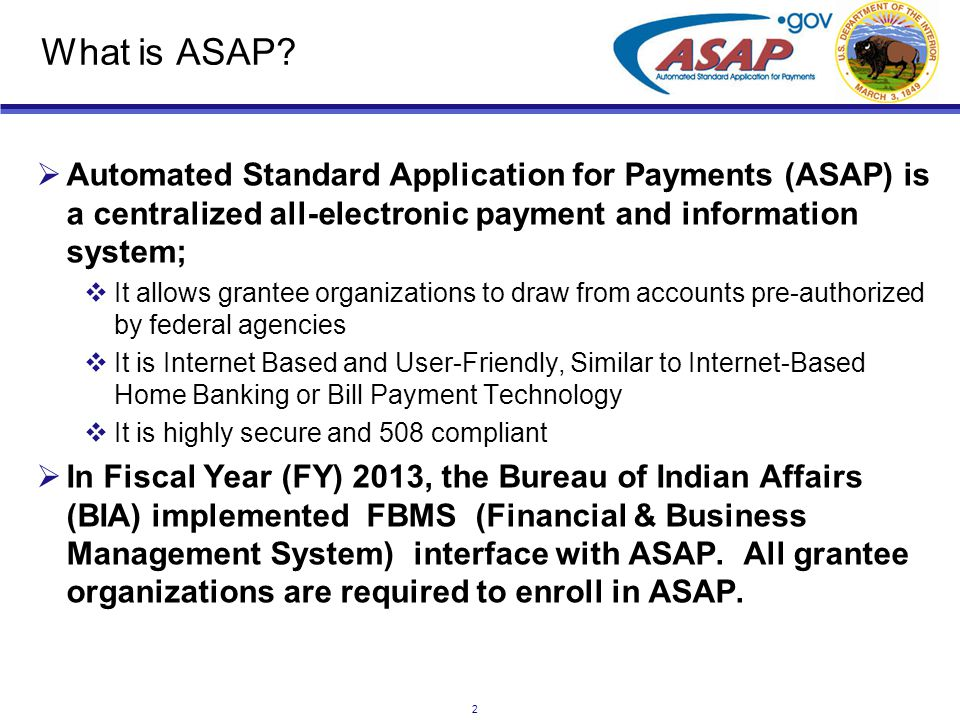 3 ASAP Registration  To register in ASAP you need the following: 1.Data Universal Numbering System (DUNS).