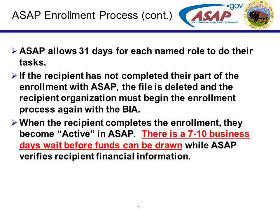 7 ASAP Enrollment Form