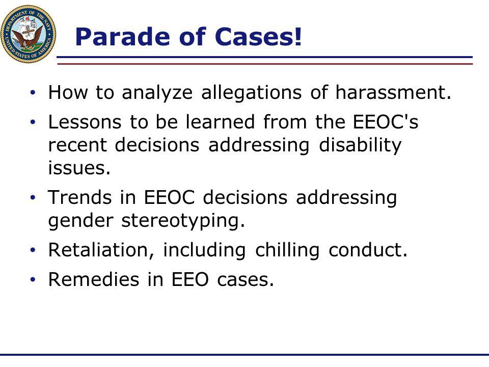 Stating a Claim of Harassment  Arganda v.USPS, EEOC Appeal No.