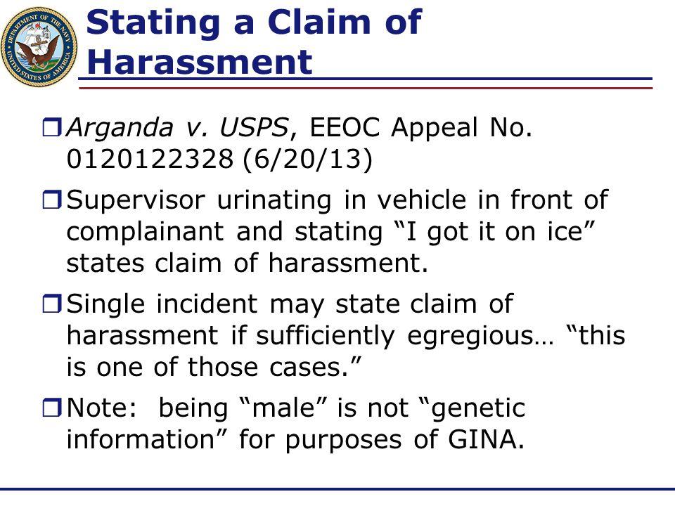 Sexual Harassment  Willis, Sampson & Bosley v.USPS, EEOC No.