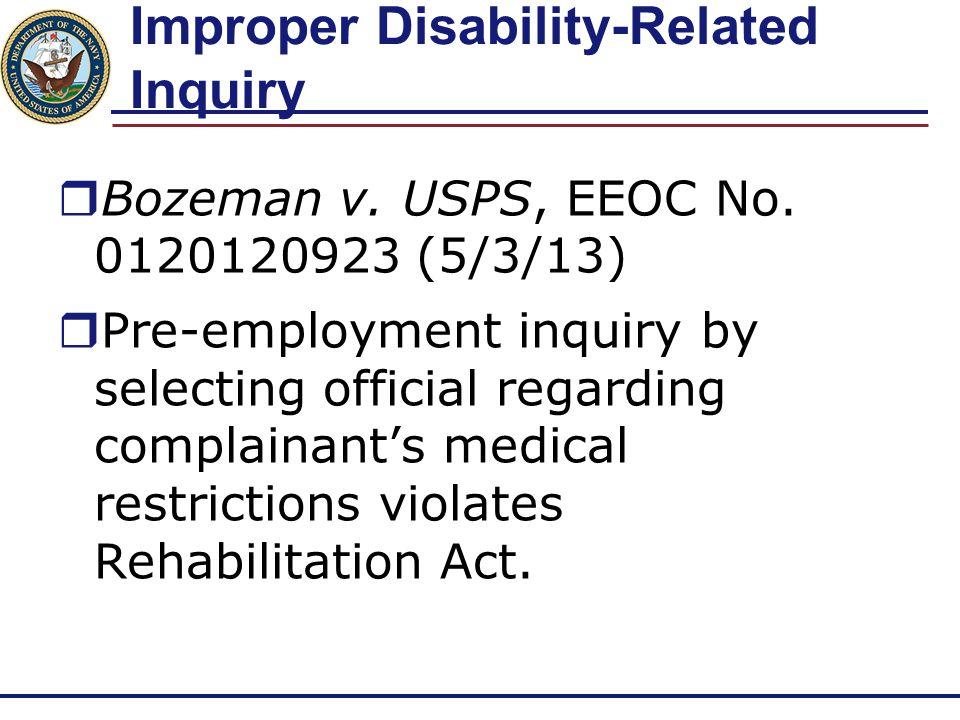 Rehabilitation Act's Confidentiality Provisions  Complainants v.