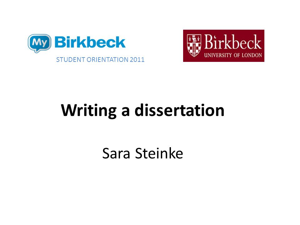 Aims of session How writing a dissertation differs from writing an essay Writing your thesis Structuring your thesis Managing your supervisor Preparing for your viva