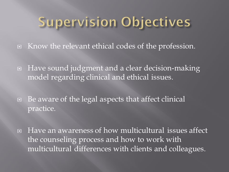 Know the relevant ethical codes of the profession.