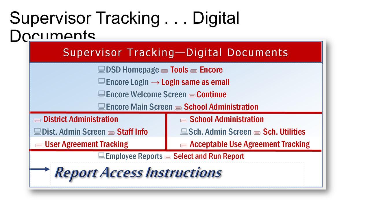 Supervisor Tracking... Digital Documents
