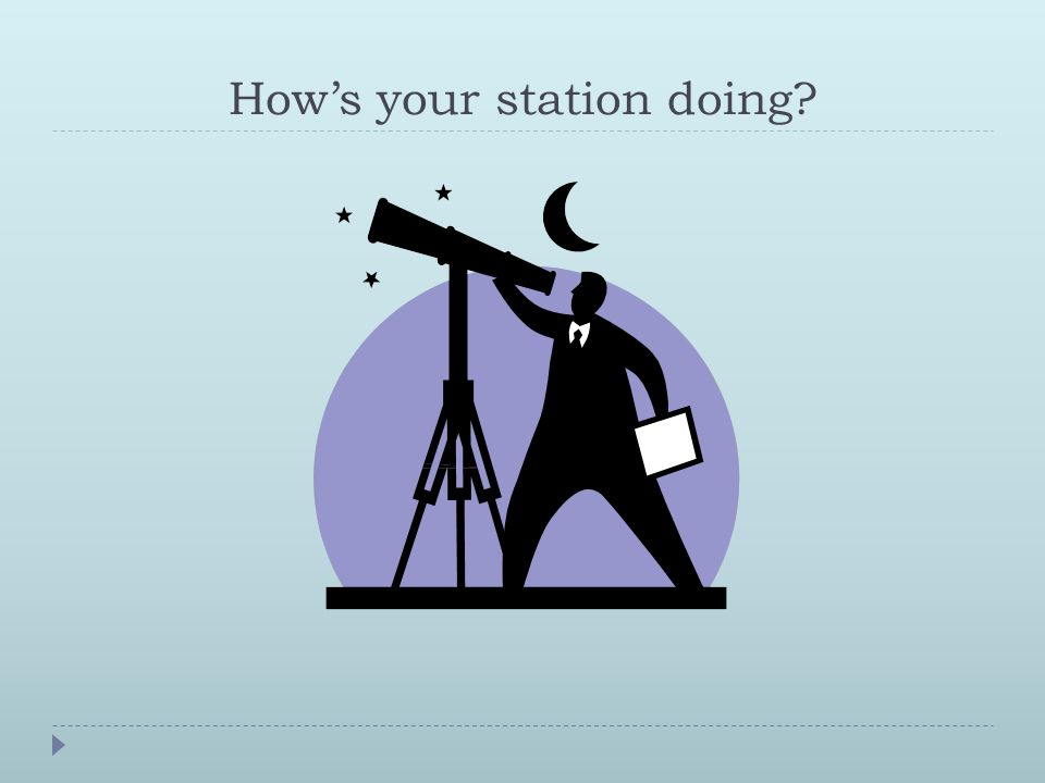 How's your station doing