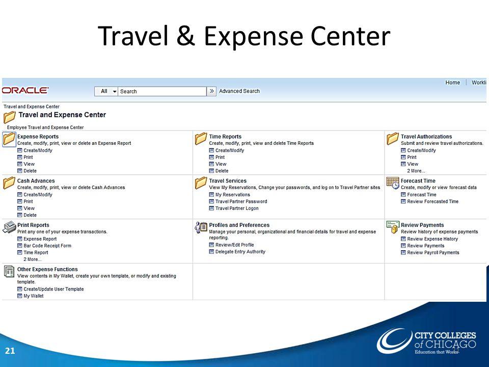 21 Travel & Expense Center