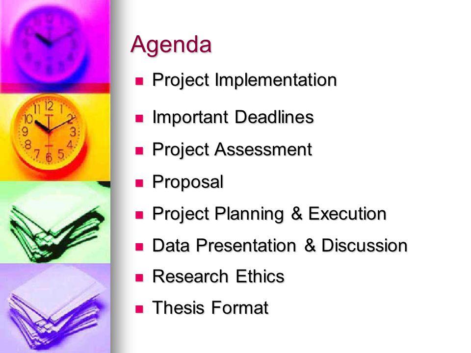 Project Assessment (Diploma) Progress Report: Log Book (20%) Progress Report: Log Book (20%) Project Presentation (30%) Project Presentation (30%) Project Thesis (50%) Project Thesis (50%)