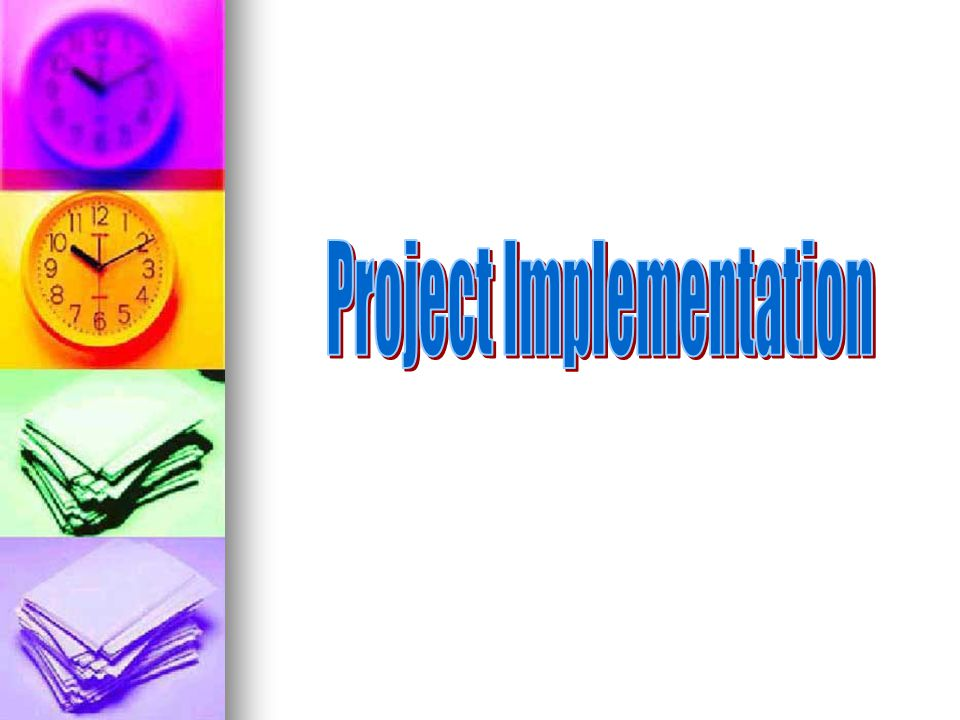 PROJECT PLANNING & EXECUTION Prepare a time-line for the project – Gantt chart - must take into account holidays, exams, writing-up, submission dates.