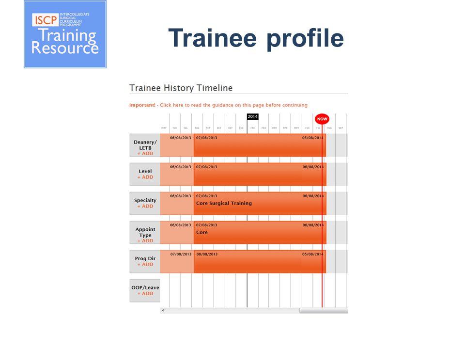 Trainee profile
