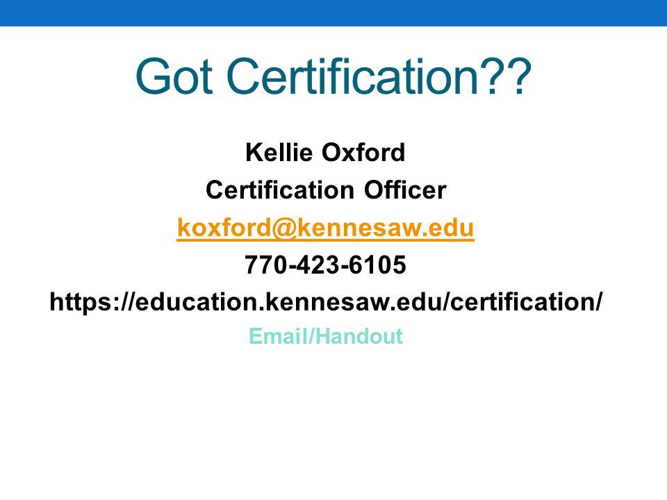 Got Certification .
