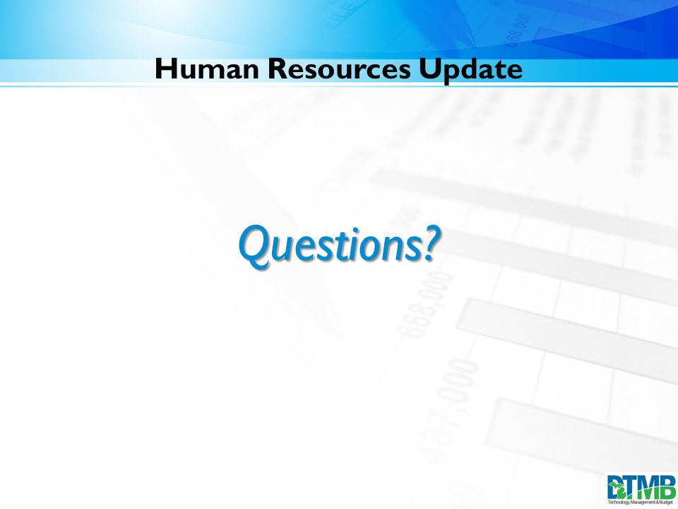 Human Resources Update Questions