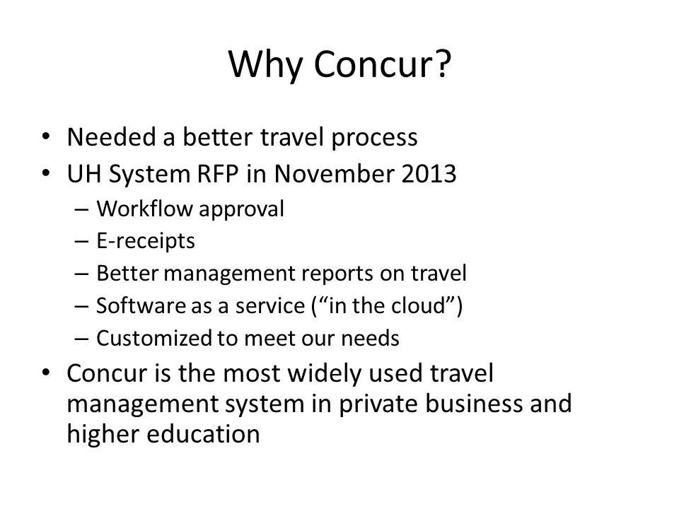 Why Concur.
