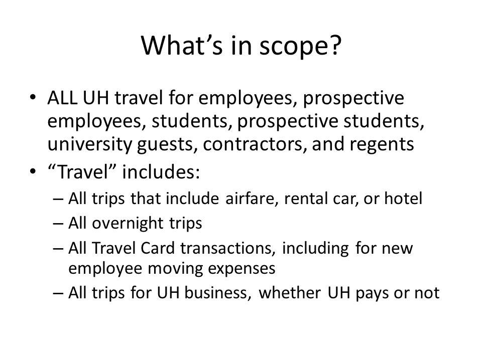 What's in scope.