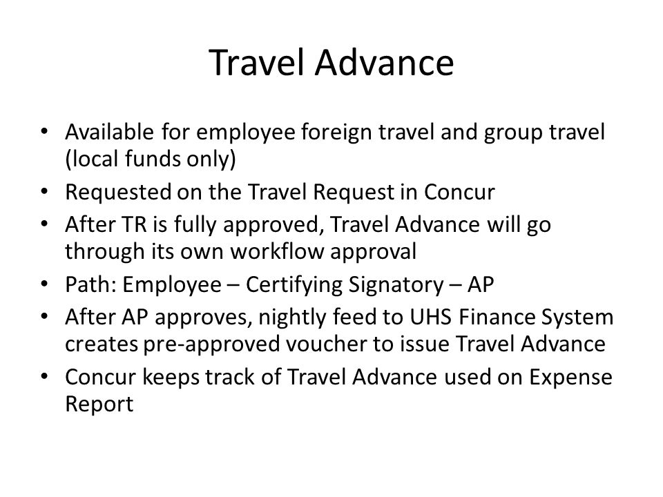 Concur Online Booking Tool Customized to include UH System and state contracts for airfare, hotel, and rental car Discounts for United and Southwest flights booked through Concur Concur keeps track of your unused tickets so they don't expire Concur builds reservations in live time so inventory is secured during the search, instead of at the end when it may no longer be available