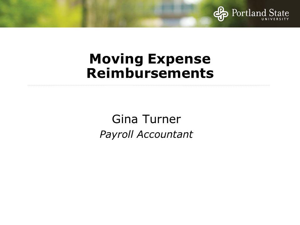 Moving Expense Reimbursements Gina Turner Payroll Accountant
