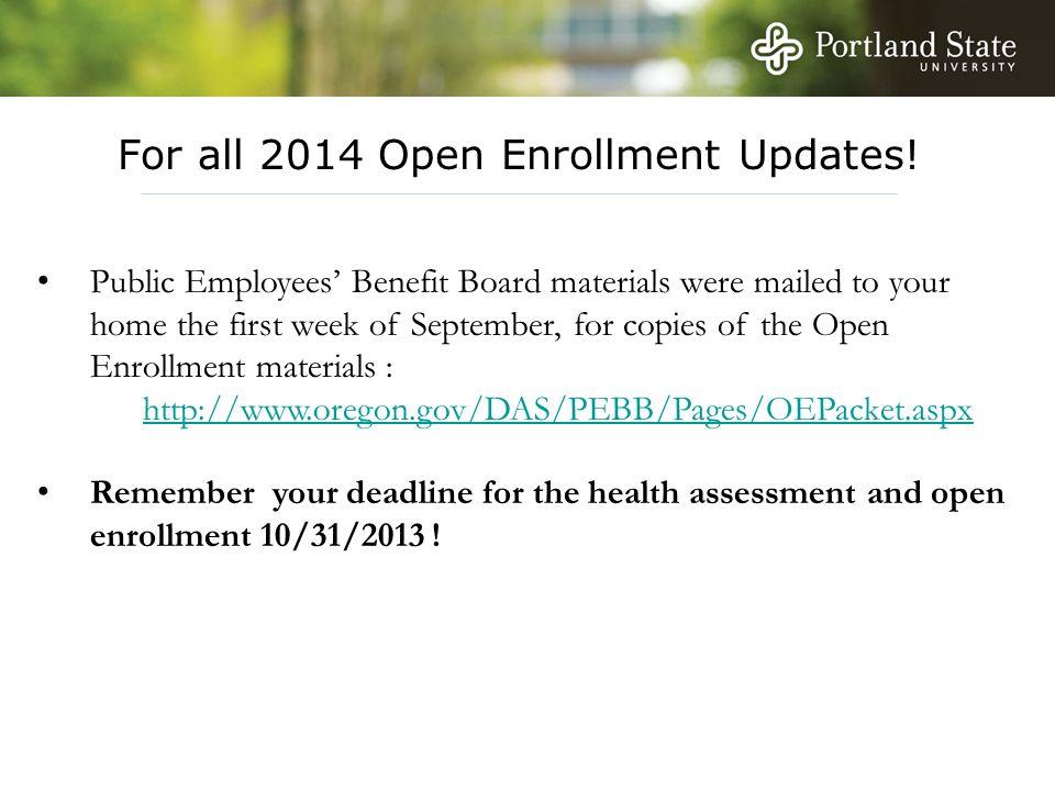 For all 2014 Open Enrollment Updates.