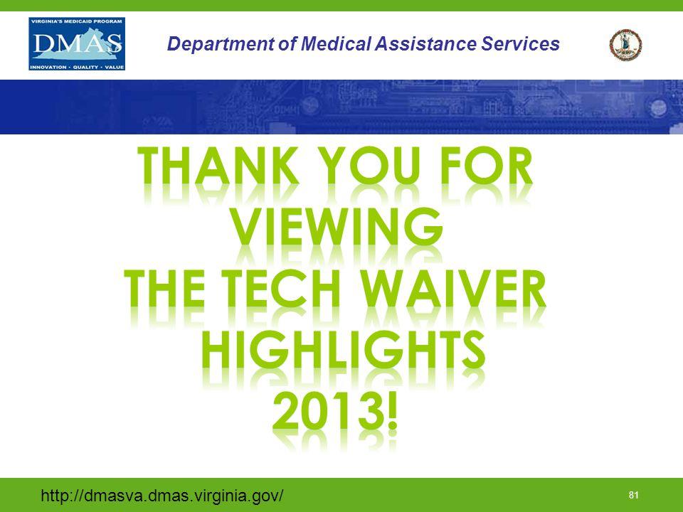 http://dmasva.dmas.virginia.gov/ 81 Department of Medical Assistance Services