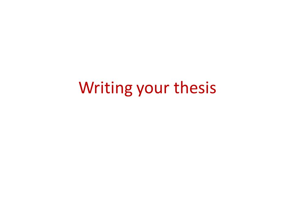 What does a thesis look like.