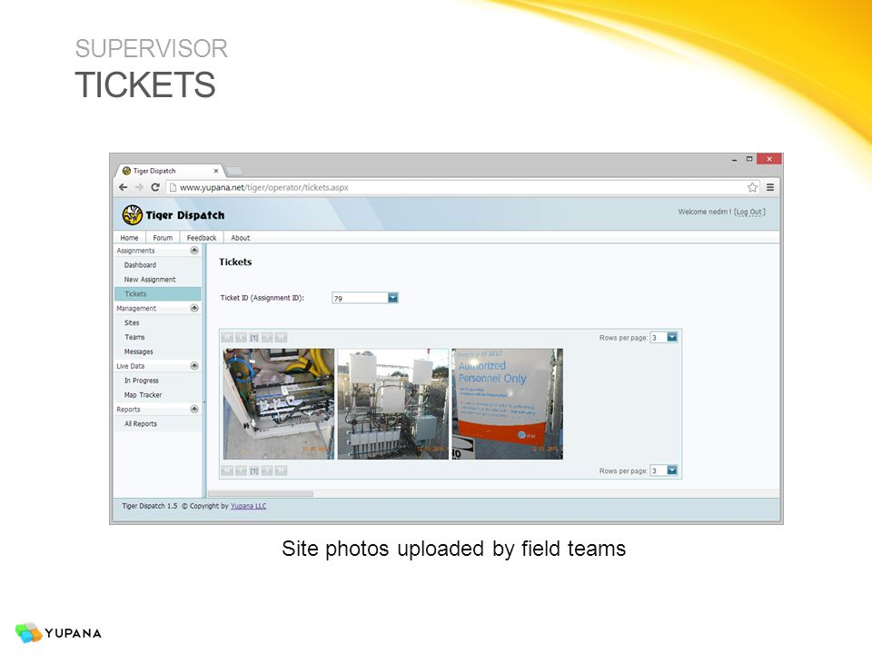 SUPERVISOR SITES Site database can be view or edited