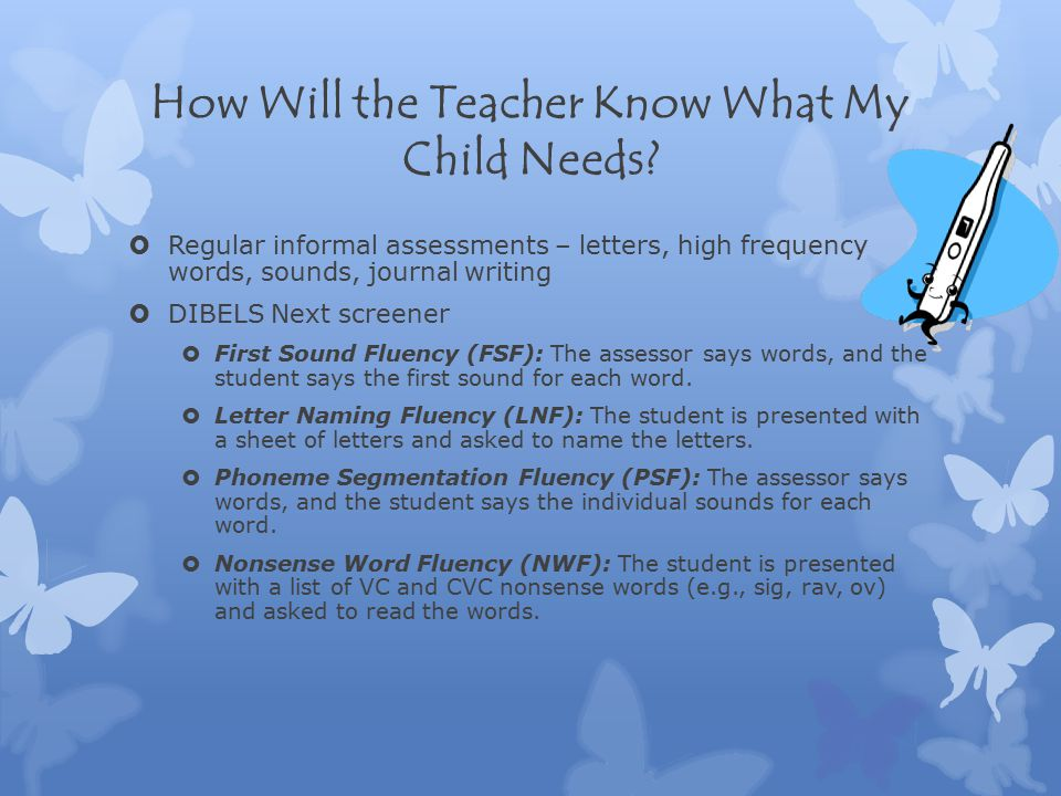 How Will the Teacher Know What My Child Needs.