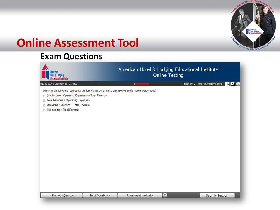 Online Assessment Tool Exam Questions