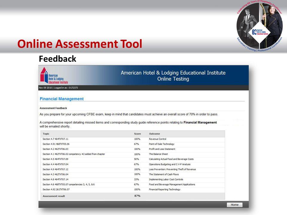 Online Assessment Tool Feedback