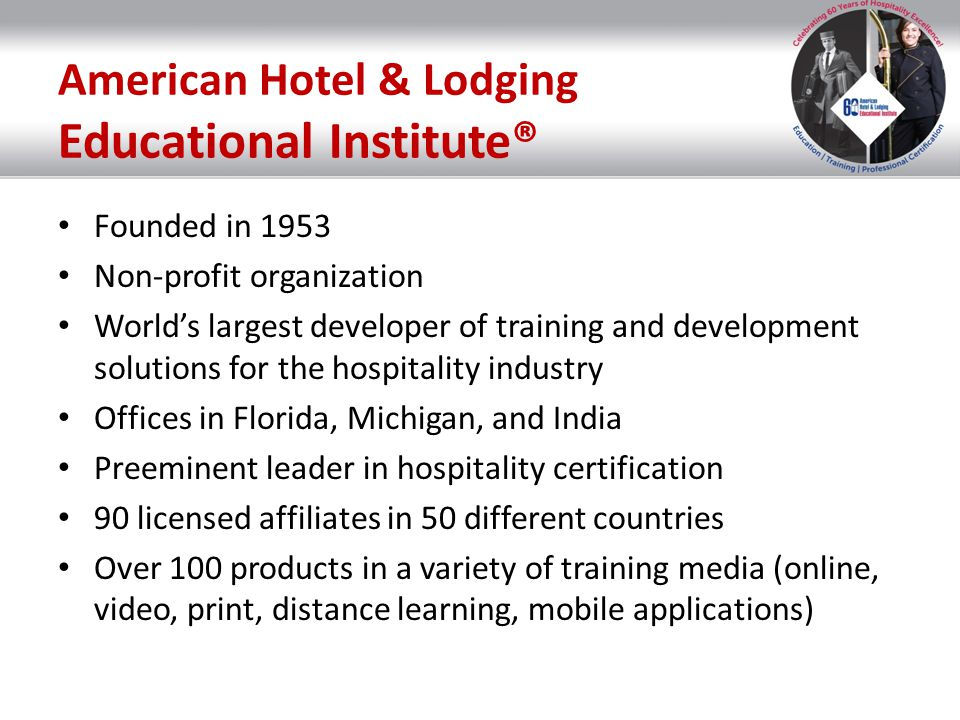 Trainer Certifications CHT® Certified Hospitality Trainer CHT® Certified Hospitality Trainer CHDT® Certified Hospitality Department Trainer CHDT® Certified Hospitality Department Trainer