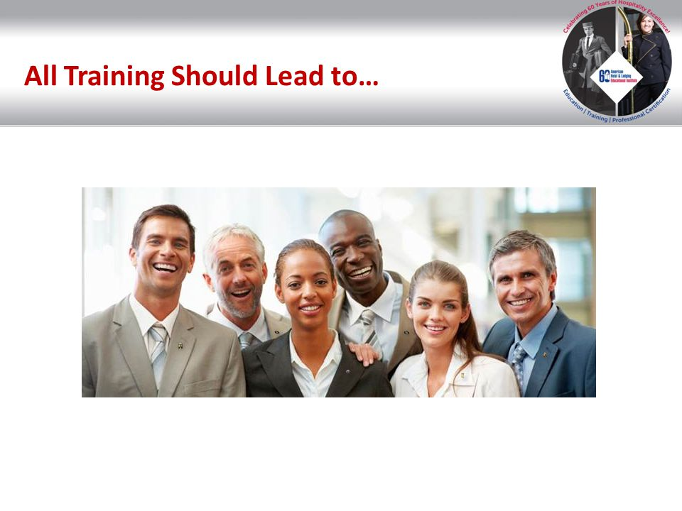 Certified Hospitality Trainer (CHT®) Trainer Development Program: Study materials for the CHT® exam Effective training Understanding job breakdown and skills performance Understanding the learning process Separate fee applies.