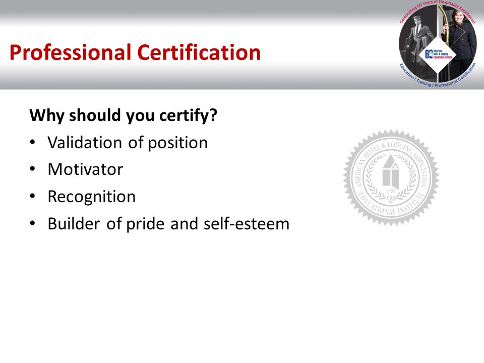 Professional Certification Over 20 Certifications Executive Level Department Heads Managers Supervisors Line