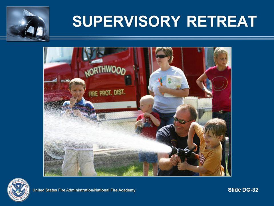 SUPERVISORY RETREAT Slide DG-32