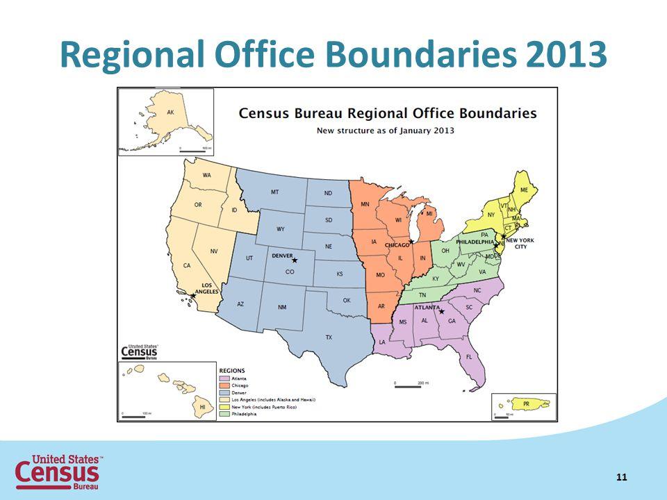 Regional Office Boundaries 2013 11