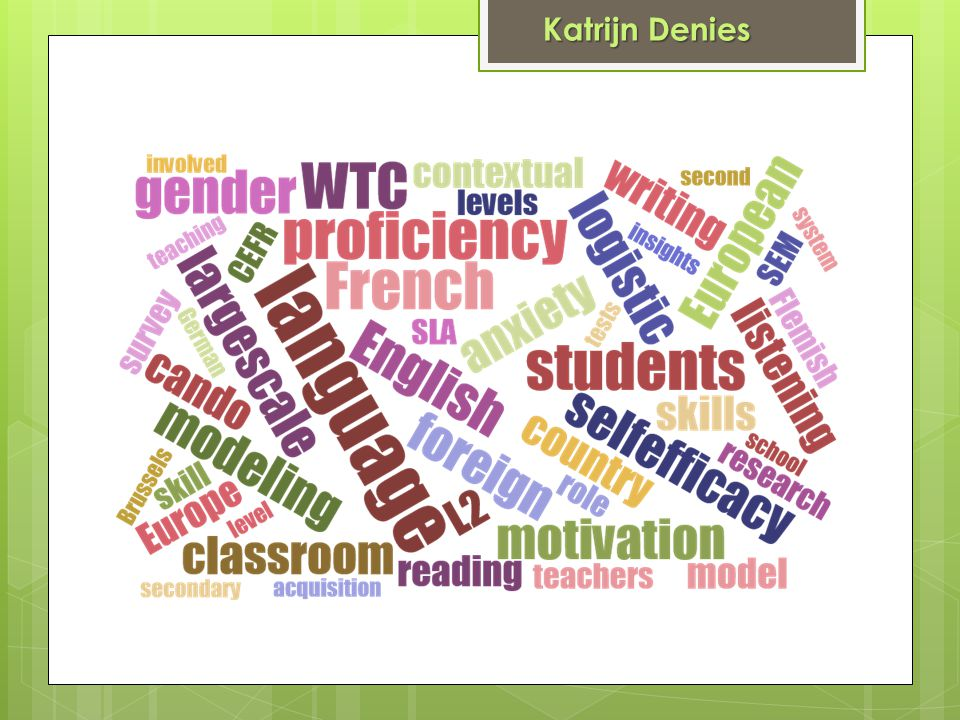Educational Effectiveness in Secondary Schools Supervisor : Prof.