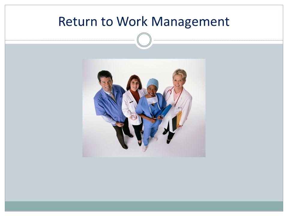 Return to Work Management