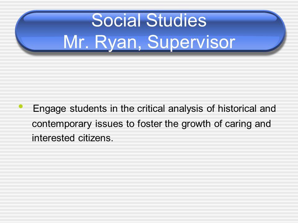 Social Studies Mr.