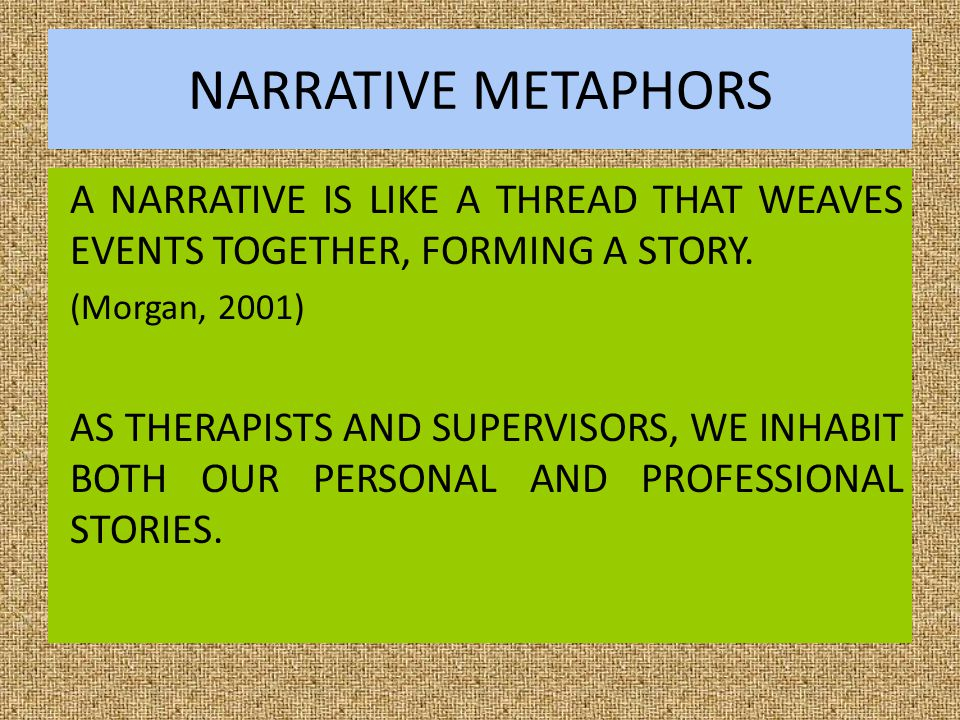 PRACTICE METAPHORS WHAT SUPERVISION PRACTICE METAPHORS DO YOU EMBRACE?